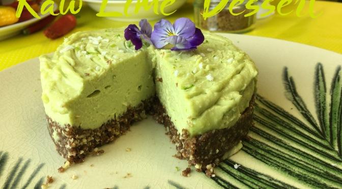 Raw Tropical Lime Dessert
